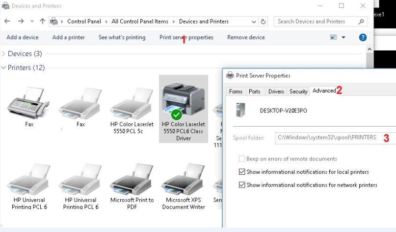 clean print spooler