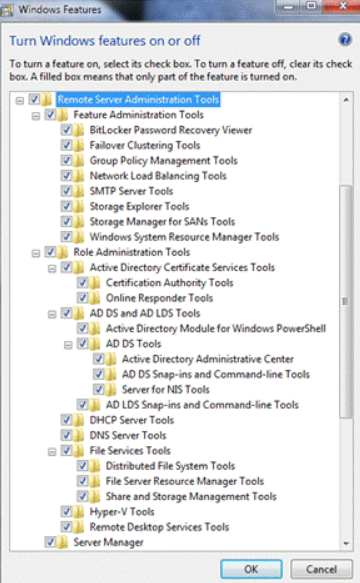 Installing the Active Directory snap-in in Windows 7
