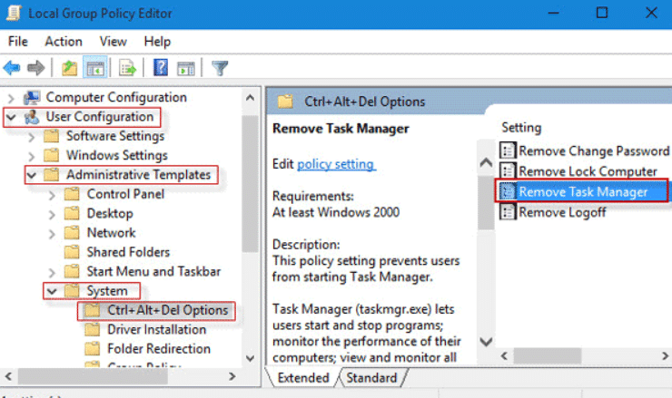 task manager is disabled by your administrator
