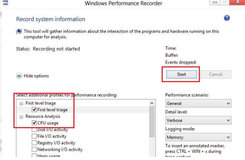 Windows Perfomance Recorder - CPU load analysis