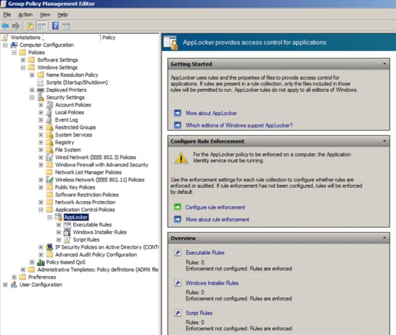 AppLocker in Windows.