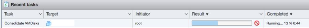 start consolidating vmware virtual disks