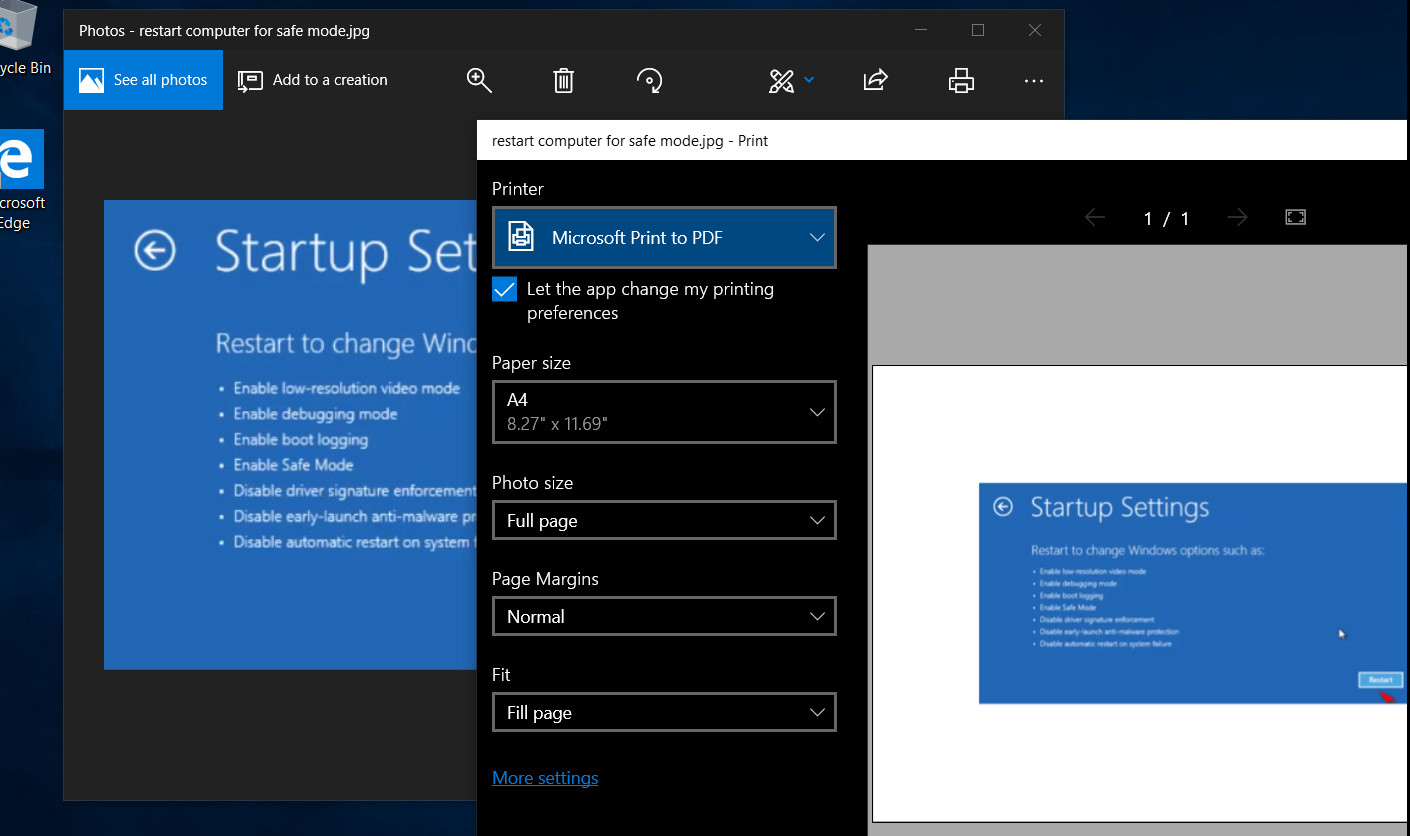 How to convert JPG and PNG images to PDF in Windows 10