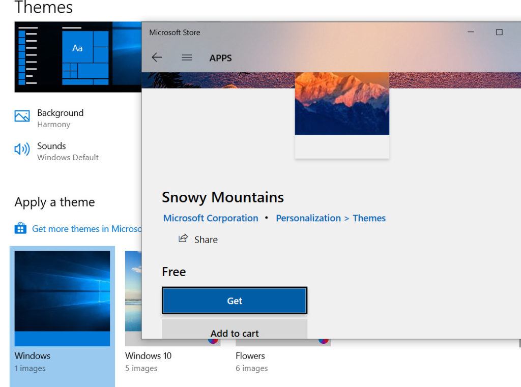 how to download themes in windows 10