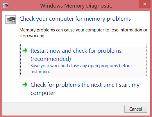 How to check the RAM for errors in Windows