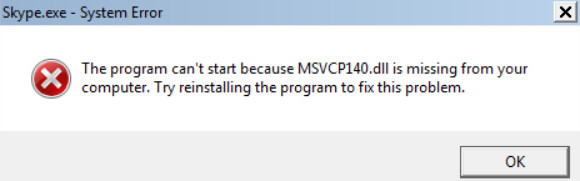 Download MSVCP140.dll and fix error in Windows