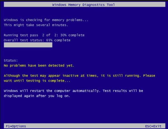 windows memory diagnostics tool