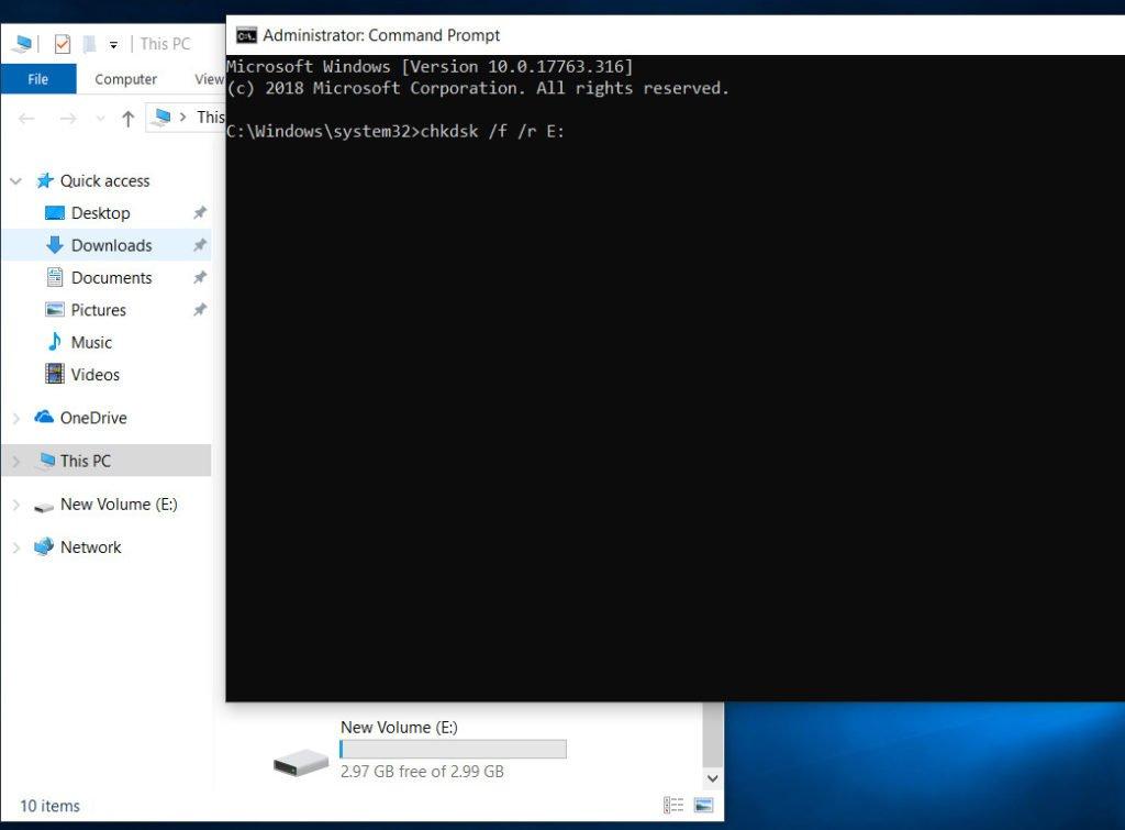 Error 0x80070091: Folder is not empty