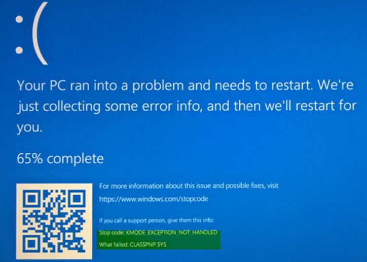 Fix KMODE_EXCEPTION_NOT_HANDLED Error in Windows 10