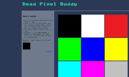 Check monitor for dead pixels online