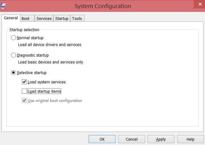 load system files