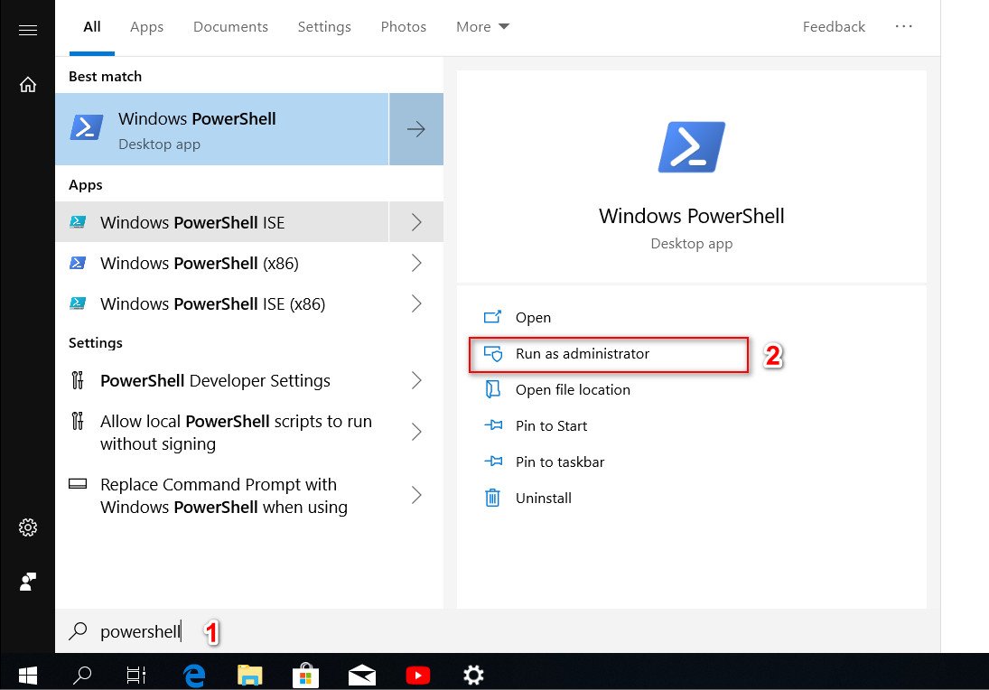 Settings not working in Windows 10