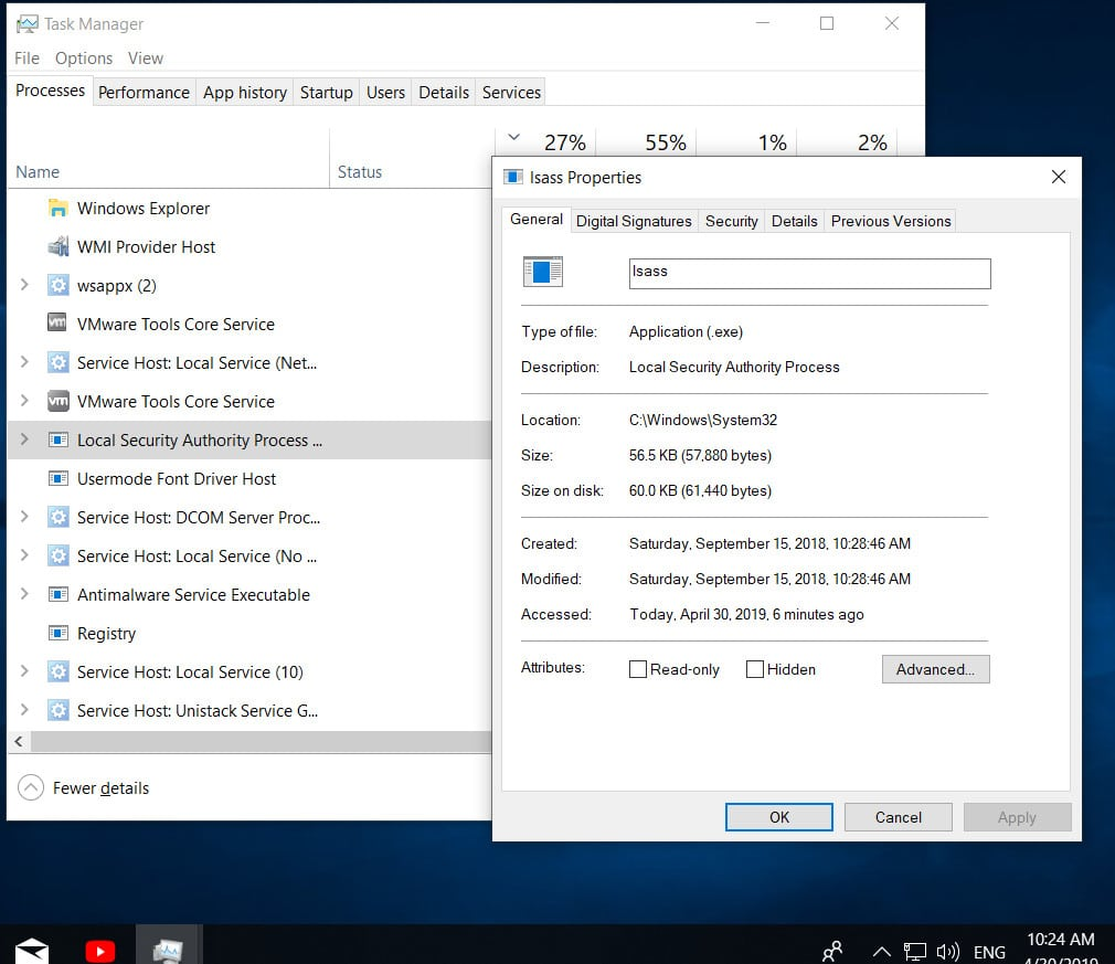 LSASS.exe: what it is and how it works in Windows 10