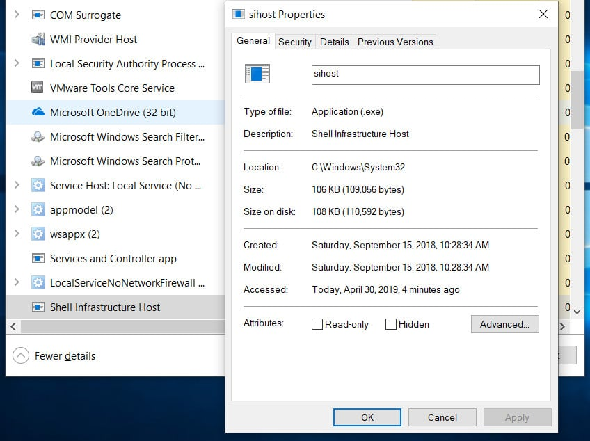 sihost.exe in Windows 10 – What is it and how it works