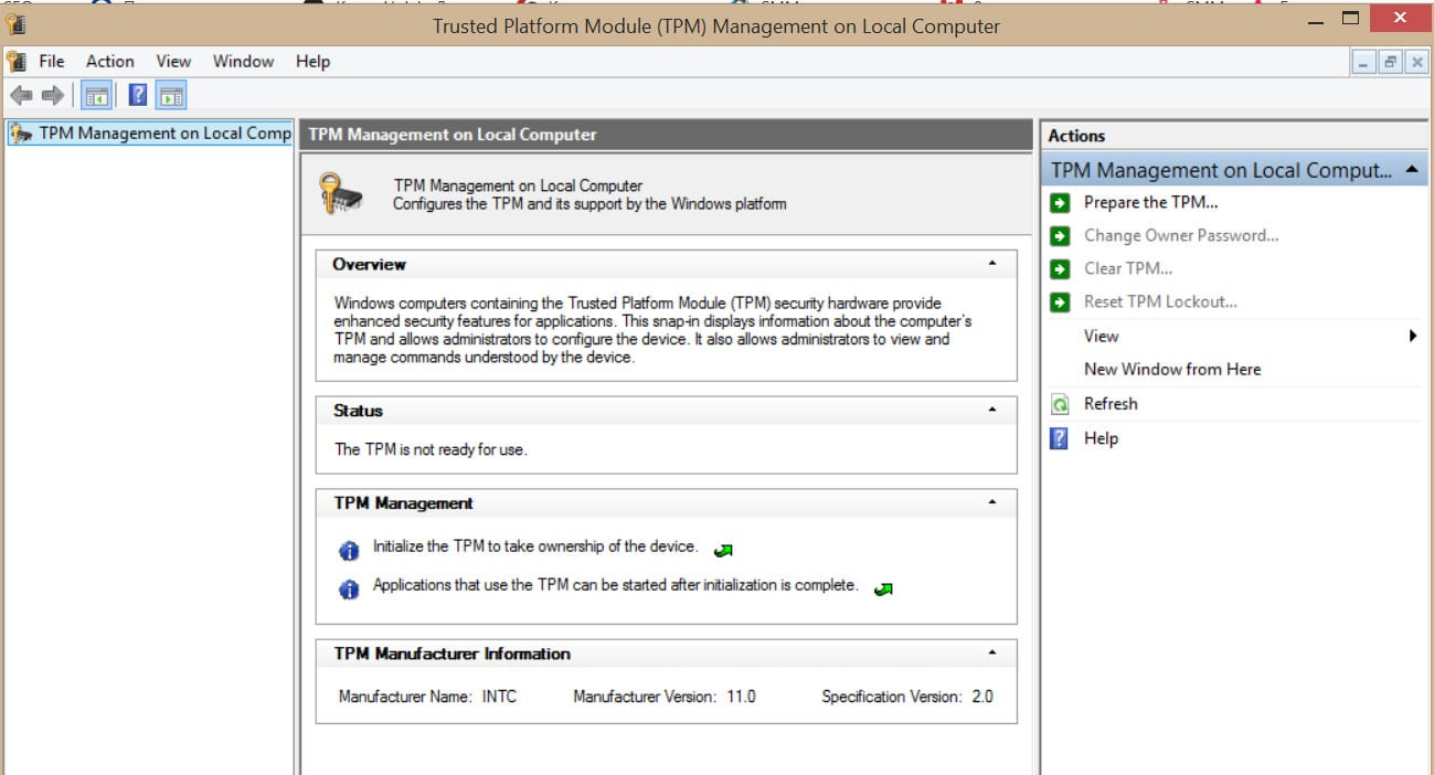 How to upgrade and clean TPM security processor firmware