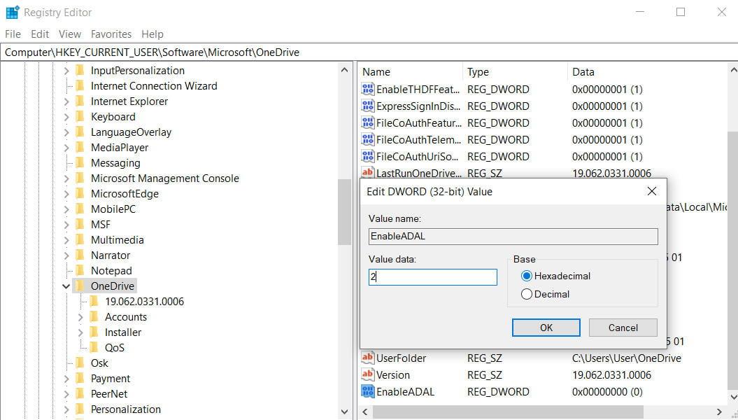 error 0x8004deb4 OneDrive