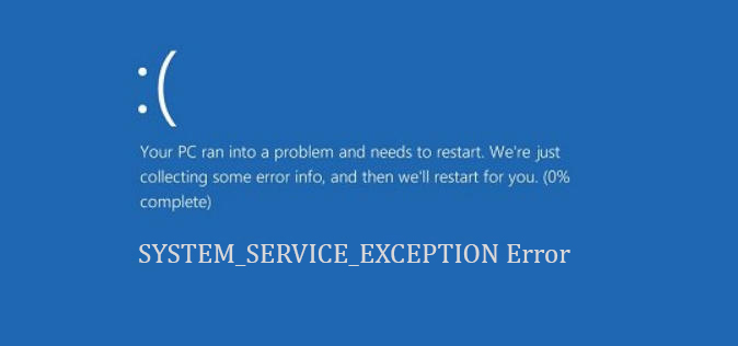 SYSTEM SERVICE EXCEPTION Error