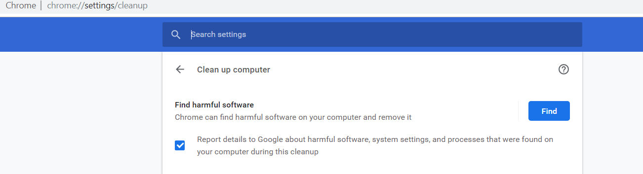 cleanup google chrome