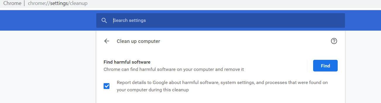 cleanup google chrome