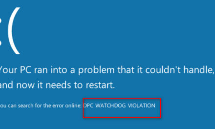 Fix a DPC Watchdog Violation error in Windows 10