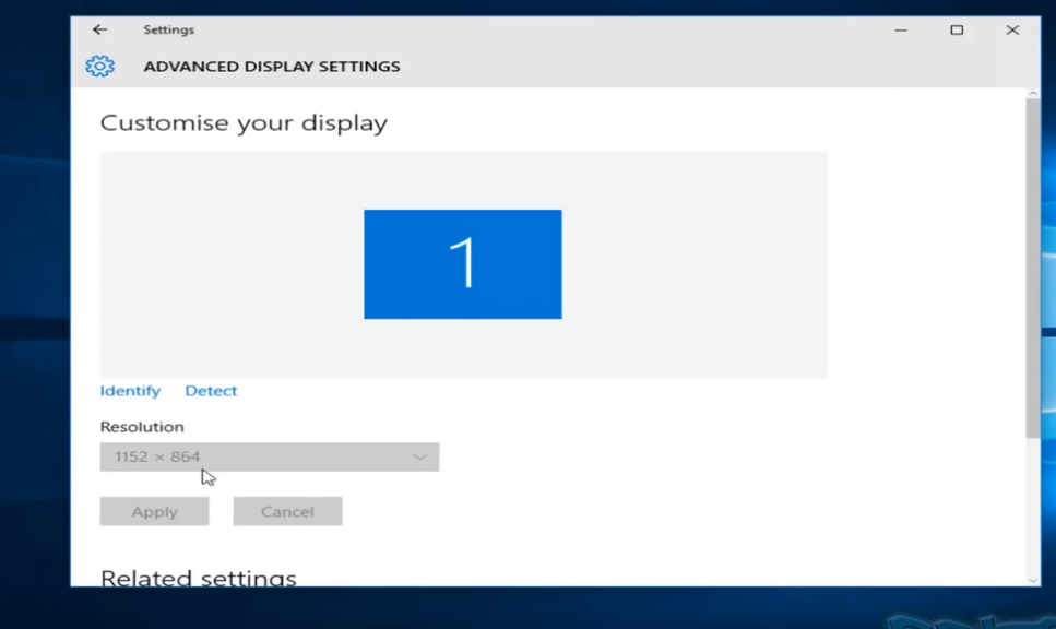 Fix Screen Resolution Problem in Windows 10