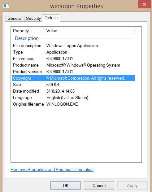 winlogon.exe error in windows 7