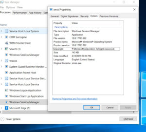 windows session manager