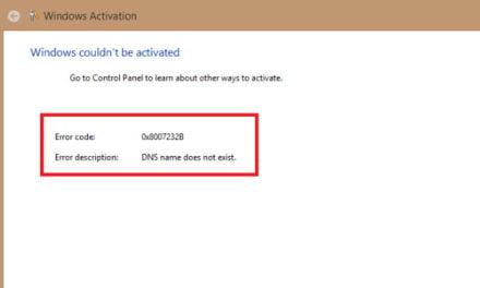 WindowsVolumeActivation error code 0x8007232B