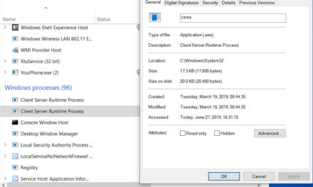What is csrss.exe process and how csrss.exe works in Windows 10