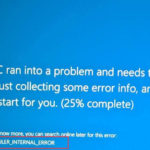 Error VIDEO_SCHEDULER_INTERNAL_ERROR in Windows 10