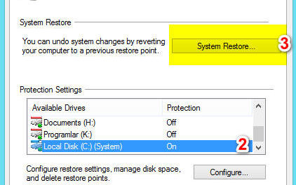 How to create a system restore point in Windows 10/8