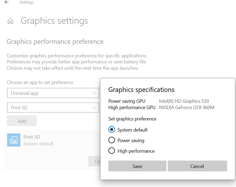 Nvidia Control Panel Windows 10