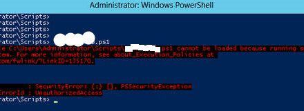 PowerShell  Running scrips disabled on this system