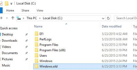 How to delete the Windows.old folder
