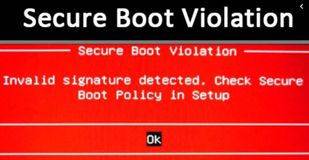 How to fix Secure Boot Violation