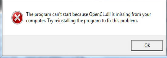 OpenCL.dll is Missing error