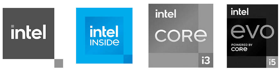 new intel logotips