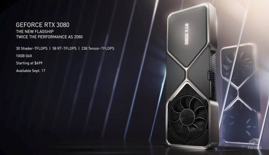 new rtx 3080 videocards