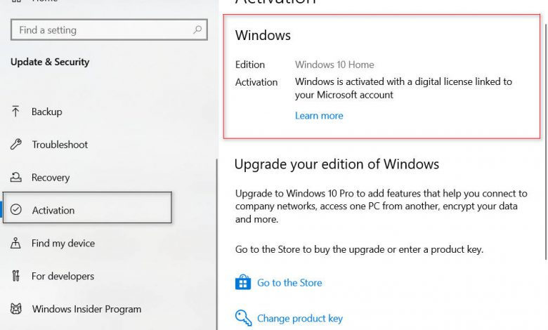 How to check if windows 10 is activated